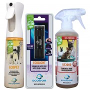 Urine smell remover combination package + stain detector